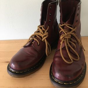 Dr. Martens Ladies Size 9 1460 Boots Cherry Red